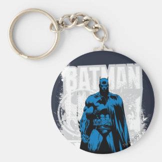 Batman Comic - Vintage Full View Basic Round Button Keychain