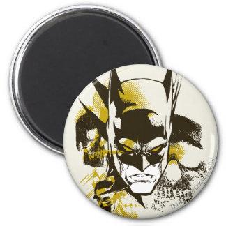 Batman Cowl and Skulls 2 Inch Round Magnet