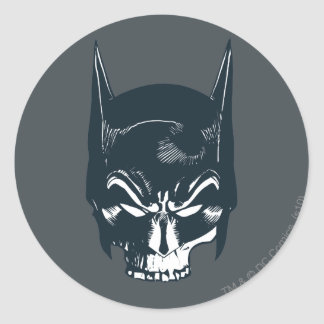 Batman Cowl/Skull Icon Round Sticker