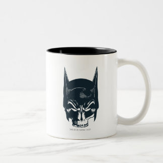 Batman Cowl/Skull Icon Two-Tone Coffee Mug