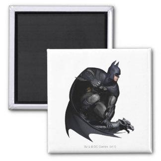 Batman Crouching Square Magnet