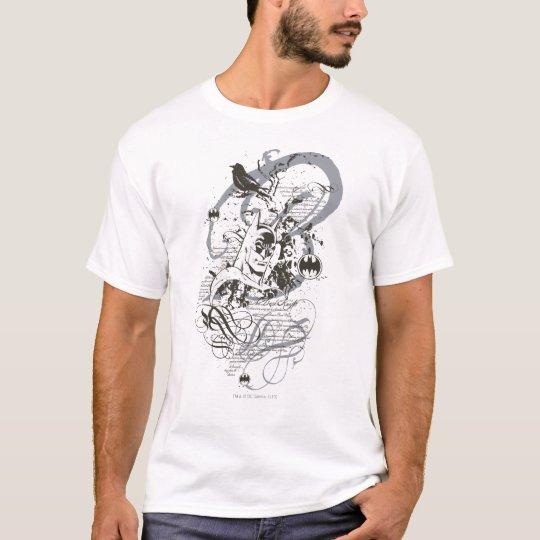 Batman Dark Knight Manuscript Montage T-Shirt
