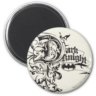 Batman Dark Knight | Ornate Logo 2 Inch Round Magnet
