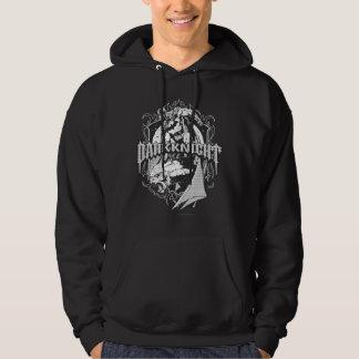 Batman Dark Knight | White Grey Outline Logo Hoodie