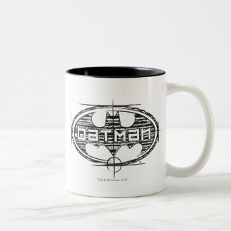 Batman | Draft Logo Two-Tone Coffee Mug