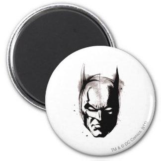 Batman Drawn Face 2 Inch Round Magnet
