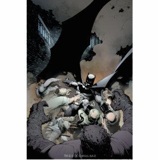 Batman Fighting Arch Enemies Standing Photo Sculpture