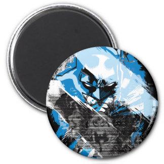 Batman Future Cityscape Montage 2 Inch Round Magnet