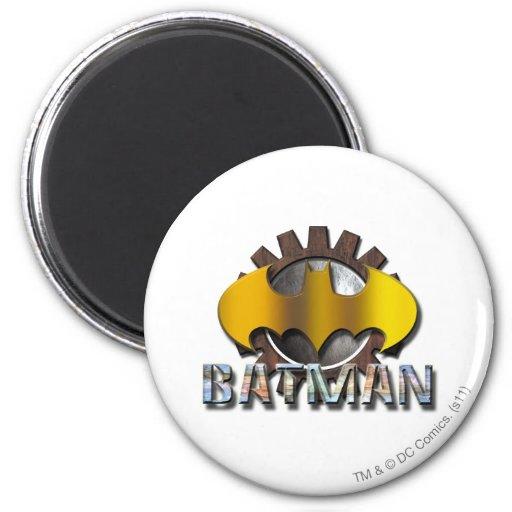 Batman Gear Background Fridge Magnets
