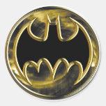 Batman Gold Logo Round Stickers