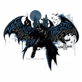 Batman Gotham City Paint Drip Graphic Standing Photo Sculpture