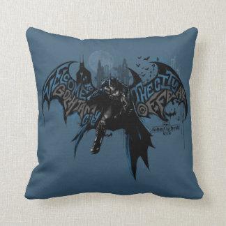 Batman Gotham City Paint Drip Graphic Throw Pillow