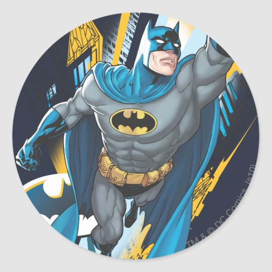 Batman Gotham Guardian Classic Round Sticker Zazzle Ca