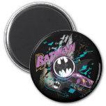 Batman Gotham Skyline Sketch 2 Inch Round Magnet
