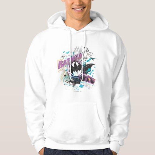 Batman Gotham Skyline Sketch Hooded Sweatshirts