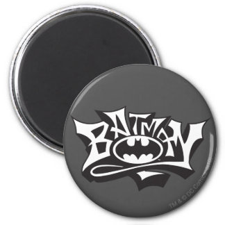 Batman | Graffiti Name Logo 2 Inch Round Magnet