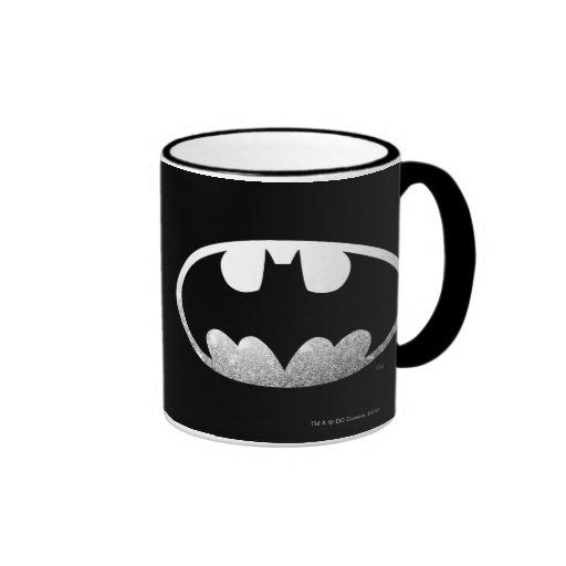 Batman Grainy Logo Ringer Mug