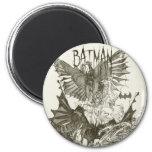 Batman Graphic Novel Pencil Sketch 2 Inch Round Magnet