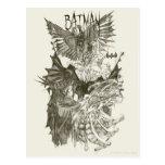 Batman Graphic Novel Pencil Sketch Postcard