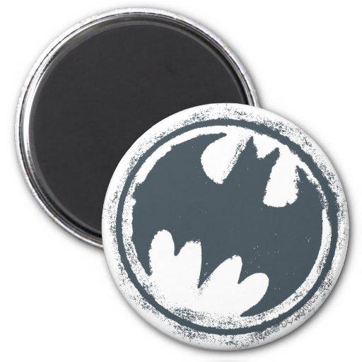 Batman Gray Grunge Logo Magnets