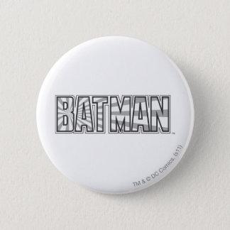 Batman   Grey Starbust Logo 2 Inch Round Button