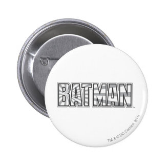 Batman | Grey Starbust Logo 2 Inch Round Button
