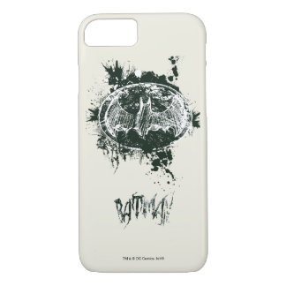 Batman Grunge Splatter Sketch iPhone 7 Case