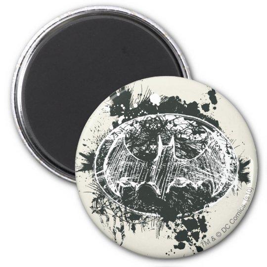Batman Grunge Splatter Sketch Magnet