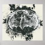 Batman Grunge Splatter Sketch Posters