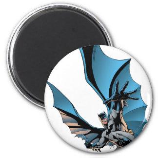 Batman hand in foreground 2 inch round magnet