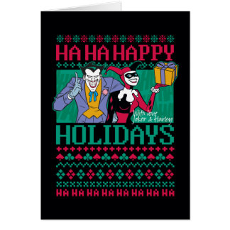 Batman | Happy Holidays Joker & Harley Quinn Card
