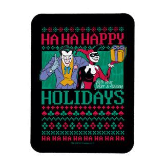 Batman   Happy Holidays Joker & Harley Quinn Magnet