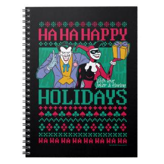 Batman   Happy Holidays Joker & Harley Quinn Notebook