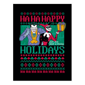 Batman | Happy Holidays Joker & Harley Quinn Postcard