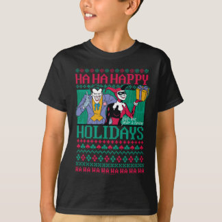 Batman | Happy Holidays Joker & Harley Quinn T-Shirt