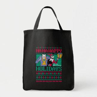 Batman   Happy Holidays Joker & Harley Quinn Tote Bag