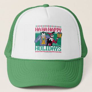 Batman | Happy Holidays Joker & Harley Quinn Trucker Hat