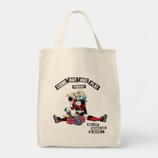 "Batman | Harley Quinn ""Come Out And Play Puddin'"" Tote Bag"