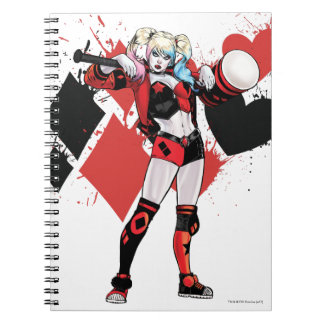 Batman | Harley Quinn Hearts & Diamonds Splatter Notebook