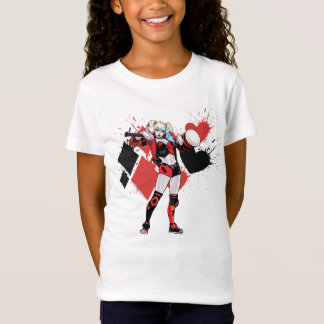 Batman | Harley Quinn Hearts & Diamonds Splatter T-Shirt