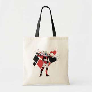 Batman | Harley Quinn Hearts & Diamonds Splatter Tote Bag
