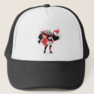 Batman | Harley Quinn Hearts & Diamonds Splatter Trucker Hat