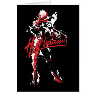 "Batman | Harley Quinn ""Hi Puddin'"" Ink Art Card"