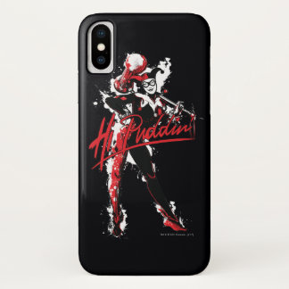 "Batman   Harley Quinn ""Hi Puddin'"" Ink Art iPhone X Case"