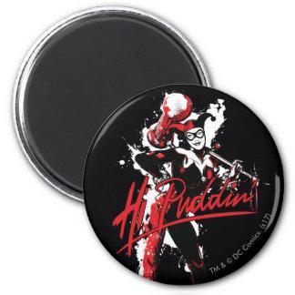 "Batman   Harley Quinn ""Hi Puddin'"" Ink Art Magnet"