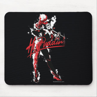 "Batman | Harley Quinn ""Hi Puddin'"" Ink Art Mouse Pad"