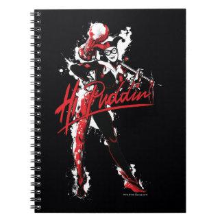 "Batman   Harley Quinn ""Hi Puddin'"" Ink Art Notebooks"