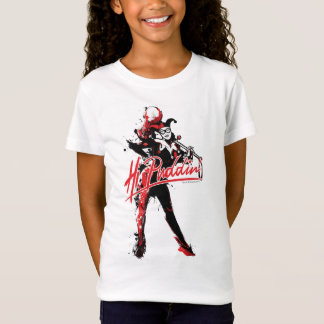 "Batman | Harley Quinn ""Hi Puddin'"" Ink Art T-Shirt"