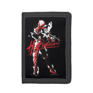 "Batman   Harley Quinn ""Hi Puddin'"" Ink Art Tri-fold Wallet"