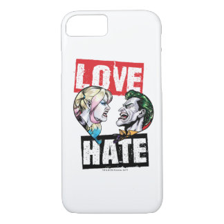 Batman | Harley Quinn & Joker Love/Hate iPhone 8/7 Case